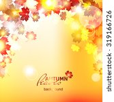 design autumn vector frame.... | Shutterstock .eps vector #319166726