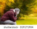 sad man in autumn season crisis   Shutterstock . vector #319171904