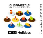 isometric flat icons  3d... | Shutterstock .eps vector #319172324