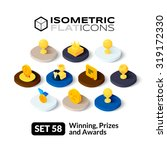isometric flat icons  3d... | Shutterstock .eps vector #319172330