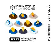 isometric flat icons  3d... | Shutterstock .eps vector #319172336