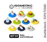 isometric flat icons  3d... | Shutterstock .eps vector #319172360