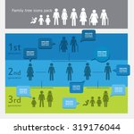 family tree icon pack with... | Shutterstock .eps vector #319176044