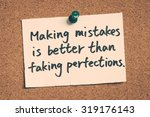 making mistakes is better than... | Shutterstock . vector #319176143