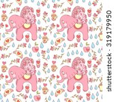cute vector elephant colorful... | Shutterstock .eps vector #319179950
