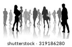 large group of people... | Shutterstock . vector #319186280