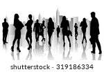 large group of people... | Shutterstock . vector #319186334
