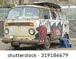 Rusty Volkswagen Van Wreck  In...