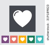 heart. single flat icon on the... | Shutterstock . vector #319189823