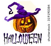 halloween border for design | Shutterstock . vector #319190384