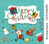 christmas theme with santa and... | Shutterstock .eps vector #319196090