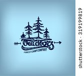 retro label of outdoor company  ... | Shutterstock .eps vector #319199819