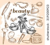"""""""hand drawn set of beauty"""" for... 