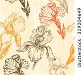 """seamless pattern vintage... | Shutterstock .eps vector #319204649"