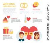 wedding infographic  vector... | Shutterstock .eps vector #319204940