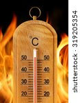 close up hot temperature...