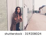 gorgeous young brunette in...   Shutterstock . vector #319208024