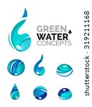 set of abstract eco water icons ... | Shutterstock . vector #319211168