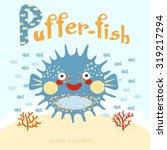 p   children learning alphabet... | Shutterstock .eps vector #319217294