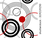 Seamless Rings Retro Pattern....