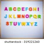 english alphabet made of... | Shutterstock . vector #319221260
