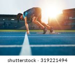 male athlete on starting... | Shutterstock . vector #319221494