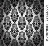 black damask vintage floral... | Shutterstock .eps vector #319227704