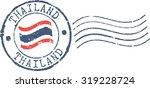postal grunge stamp 'thailand' | Shutterstock .eps vector #319228724