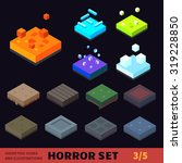 Isometric Horror Vector Tile...