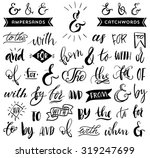 ampersands and catchwords.... | Shutterstock .eps vector #319247699