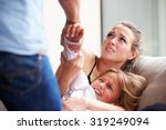 man being physically abusive... | Shutterstock . vector #319249094
