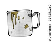 cartoon old tin cup | Shutterstock . vector #319251260