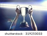 successful rugby player holding ... | Shutterstock . vector #319253033