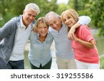 senior couples having a good... | Shutterstock . vector #319255586