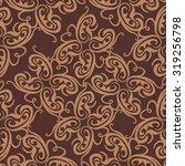 vector damask seamless pattern... | Shutterstock .eps vector #319256798