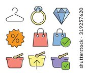 vector linear flat color icons...