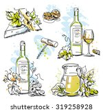 white wine tasting vector still ... | Shutterstock .eps vector #319258928