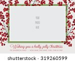 holly frame photo christmas ... | Shutterstock .eps vector #319260599