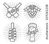 set of t shirt beer prints.... | Shutterstock .eps vector #319261238