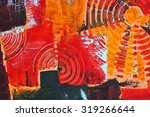 abstract colorful oil painting... | Shutterstock . vector #319266644