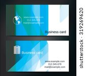 stylish business cards with... | Shutterstock .eps vector #319269620