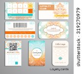 set of loyalty cards. autumn... | Shutterstock .eps vector #319270979