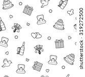 vector seamless wedding pattern.... | Shutterstock .eps vector #319272500