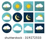 weather icons with sun  cloud ... | Shutterstock .eps vector #319272533