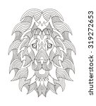 lion head zentangle stylized ... | Shutterstock .eps vector #319272653
