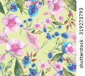 beautiful floral seamless... | Shutterstock . vector #319273793