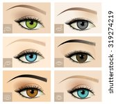Set Of Different Female Eye...
