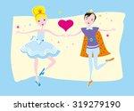 little princes couple | Shutterstock .eps vector #319279190