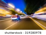 a quick taxi in the city of... | Shutterstock . vector #319280978
