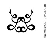 tattoo tribal lower back vector.... | Shutterstock .eps vector #319287818